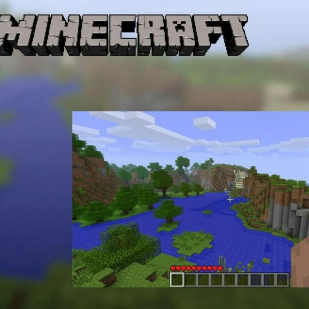 Seed of Minecraft's traditional title screen discovered