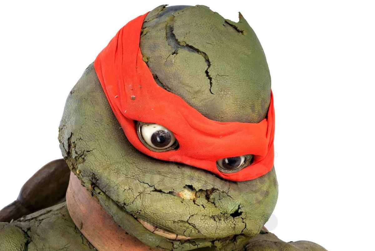 Decomposing Raphael outfit from 1993 Ninja Turtle film hits the auction block